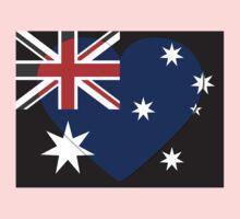 Australia Flag T-shirt One Piece - Short Sleeve