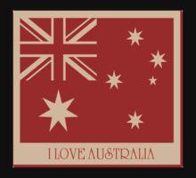 Australia Flag Vintage T-shirt Kids Clothes