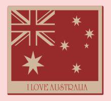Australia Flag Vintage T-shirt Kids Tee