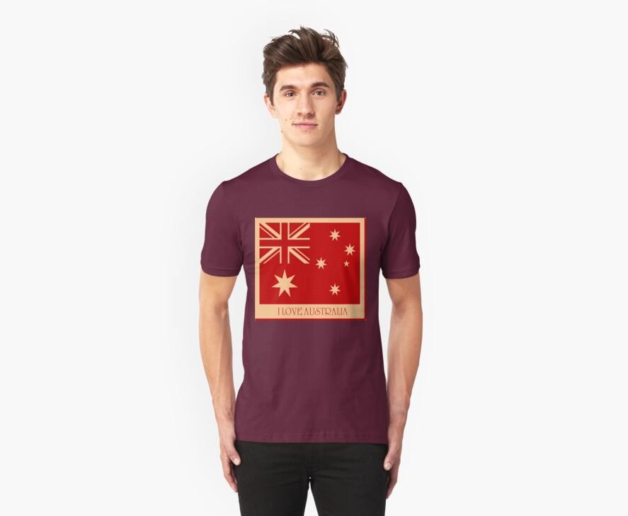 Australia Flag Vintage T-shirt by Nhan Ngo