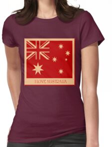 Australia Flag Vintage T-shirt Womens Fitted T-Shirt