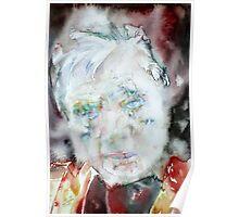 FRANCIS BACON - watercolor portrait.2 Poster