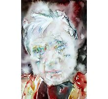 FRANCIS BACON - watercolor portrait.2 Photographic Print