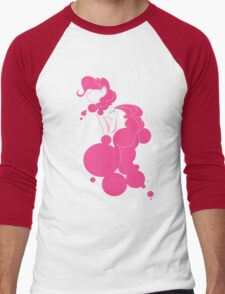Bubbly Pink Men's Baseball ¾ T-Shirt