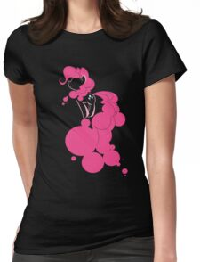 Bubbly Pink Womens Fitted T-Shirt