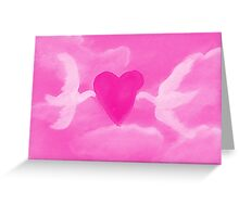 Love is in the air, watercolor Greeting Card
