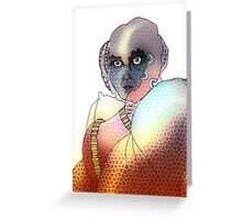 Robot Warrior Guardian Greeting Card
