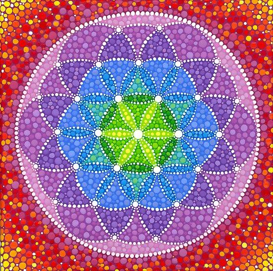 Rainbow Flower of Life by Elspeth McLean