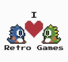 I Love Retro Games  by PopCultFanatics