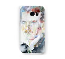 NIKOLA TESLA - watercolor portrait.3 Samsung Galaxy Case/Skin