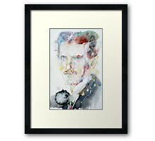 NIKOLA TESLA - watercolor portrait.3 Framed Print