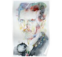 NIKOLA TESLA - watercolor portrait.3 Poster