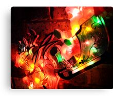 Santa's Sleigh in Lights Canvas Print
