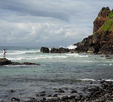 Fishing at Little Boulders by KarenEaton