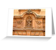 the praying girl Greeting Card
