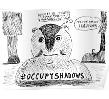 OccupyShadows on Groundhog Day cartoon Poster