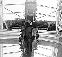 Painted Crucifix. Antonio de Saliba, born 1461 - died 1539  by tunna