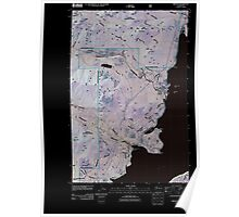 USGS Topo Map Washington State WA Brinnon 20110505 TM Inverted Poster