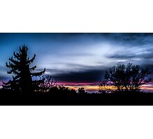 Evening sky Photographic Print