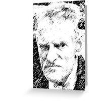 Old Man Steptoe Sketch Greeting Card
