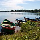 Boats on a lake by Cláudia Fernandes