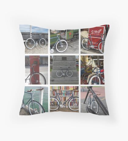 Fixie Fixation Throw Pillow