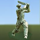 Cricketer by Geoffrey Higges