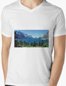 Saint Mary Lake, Glacier National Park Mens V-Neck T-Shirt