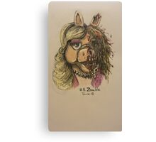 Zombie Piggy Canvas Print