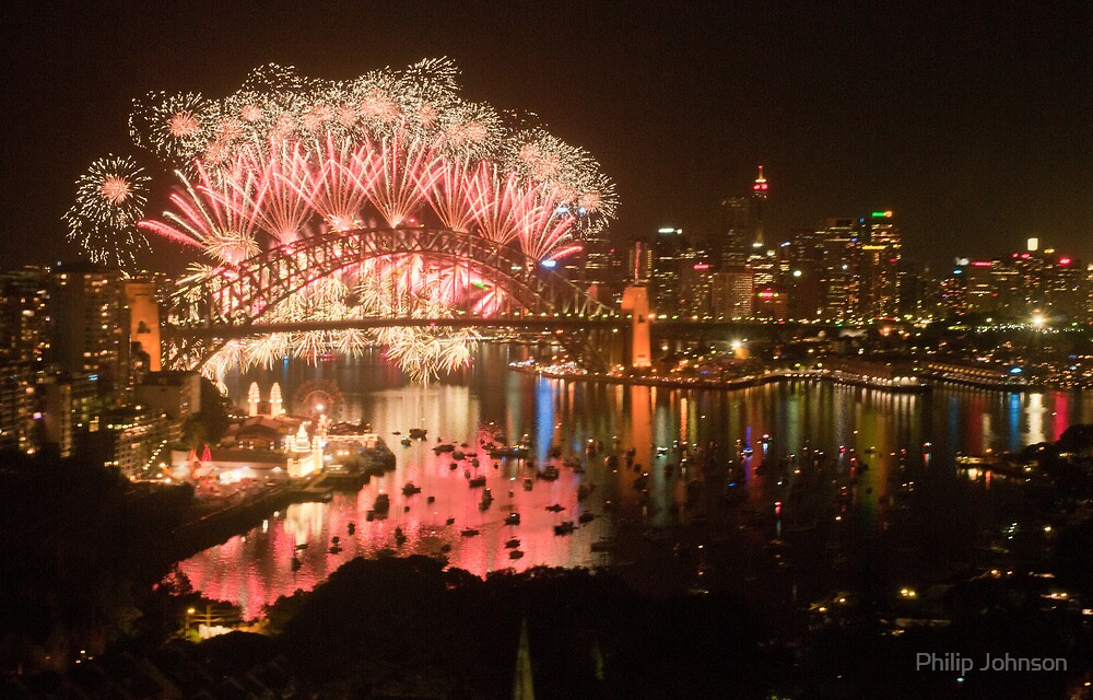 Simply The Best ! - Sydney NYE Fireworks  #9 by Philip Johnson