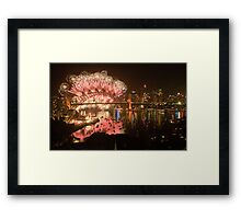 Simply The Best ! - Sydney NYE Fireworks  #9 Framed Print