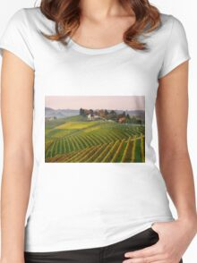 Autumnal vineyards  Women's Fitted Scoop T-Shirt