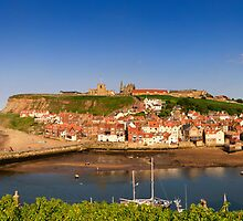 Whitby at the end of a hot summer's day by Simon Bowen