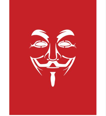 V for Vendetta Mask Sticker