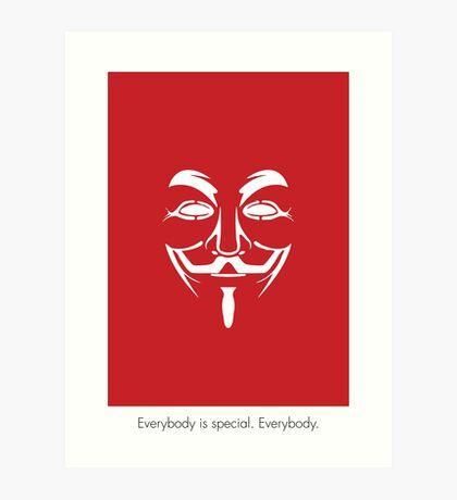 V for Vendetta Mask Art Print