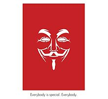 V for Vendetta Mask Photographic Print