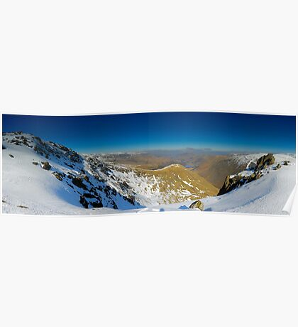 Red Screes panorama towards Patterdale Poster
