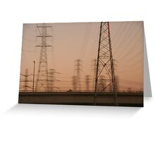 Telephone poles  Greeting Card