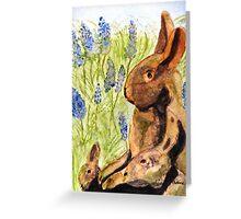 Terra Cotta Bunny Family Greeting Card