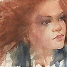 a face study in watercolour by djones