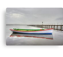 Long Jetty boat Canvas Print