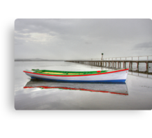 Long Jetty boat Canvas Print