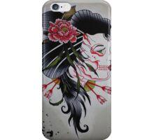 Skeletal Geisha iPhone Case/Skin