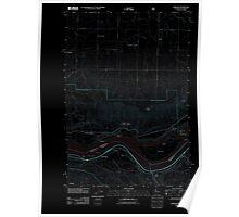 USGS Topo Map Washington State WA Wishram 20110708 TM Inverted Poster