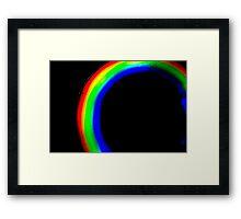 Abstract light in Dark room Framed Print