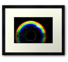 Abstract light in Dark room with drops Framed Print