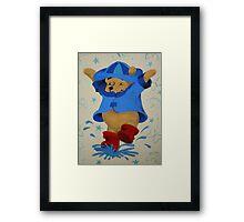 Splashing Winnie The Pooh Framed Print