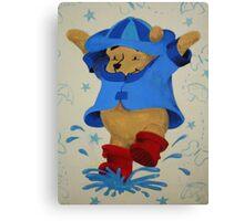 Splashing Winnie The Pooh Canvas Print