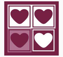 Big Love Heart - Art deco T-shirt by Nhan Ngo