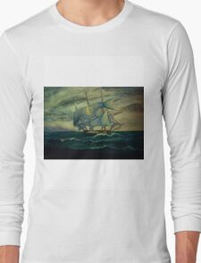"""""""SHIP OUT TO SEA"""" Long Sleeve T-Shirt"""